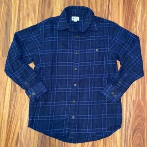 Haggar | Blue Plaid Flannel | Mens